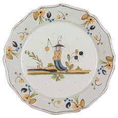 18th Century French Moustiers Faience Plate