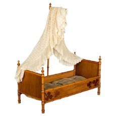 French Faux Bamboo Doll Furniture Bed
