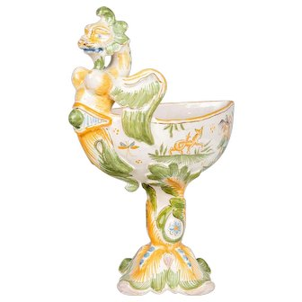 18th Century French Moustiers Faience Cup