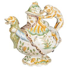 18th Century French Moustiers Faience Teapot