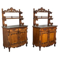Pair of Louis XV Style Buffets, or Sideboards