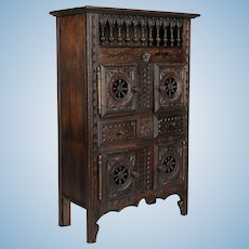 French Miniature Brittany Cabinet or Doll Furniture