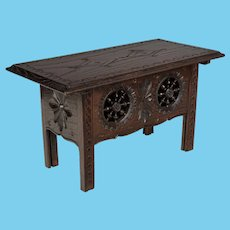 French Doll Furniture Table from Brittany