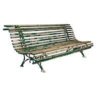 19th Century French Cast Iron Garden Bench