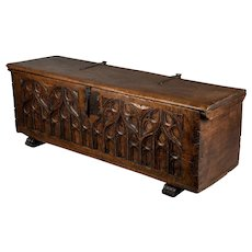 18th Century French Gothic Style Blanket Chest or Bench