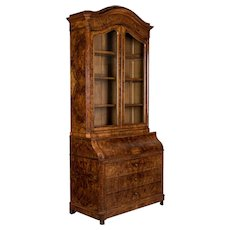 19th c. French Secretaire Bookcase Scriban