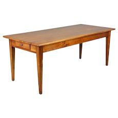 Country French Cherry Farm Table or Dining Table