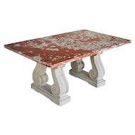 French Marble-Top Center Table