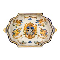 19th c. French Gien Faience Centerpiece Bowl