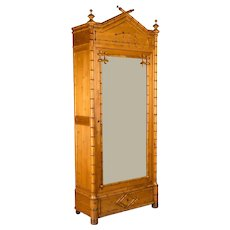 French Faux Bamboo Armoire