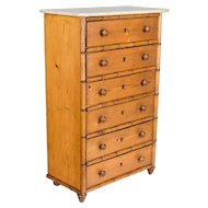 19th Century French Faux Bamboo Miniature Chest