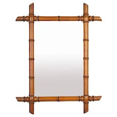 French Faux Bamboo Mirror Circa 1900