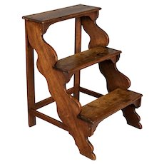 French Walnut Step Ladder
