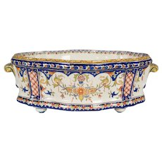 19th Century French Desvres Jardiniere