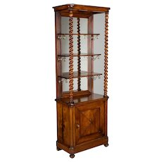 19th Century French Mahogany Cabinet with Shelves