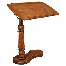 19th Century French Adjustable Tilt Top Tray Table