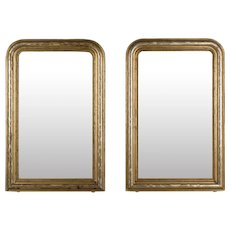Pair of 19th Century Louis Philippe Style Gilded Mirrors