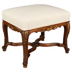 French Louis XV Style Footstool or Bench