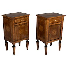 Pair of Italian Marquetry Side Tables