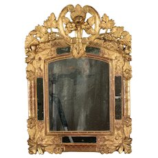 19th c. French Regence Style Carved Giltwood Mirror