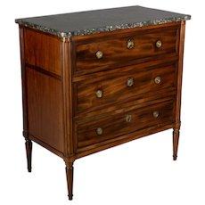 19th c. Louis XVI Style Secrétaire Desk Chest of Drawers