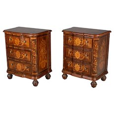 Pair of Italian Marquetry Commodes