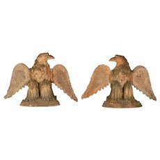 Pair of French Terra Cotta Garden Eagles