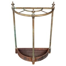 French Brass and Cast Iron Umbrella Stand