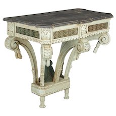19th c. Louis XVI Style Painted Console