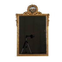 19th c. French Louis XV Style Gilded Mirror