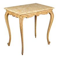 French Louis XV Style Marble Top Table