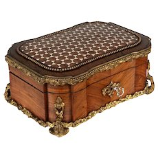 19th Century French Napoleon III Marquetry Box