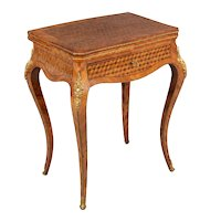 19th Century Louis XV Style Marquetry Game Table