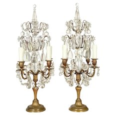 French Louis XVI Style Large Girandoles Pair