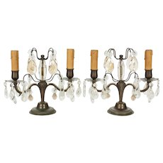 French Art Deco Girandole Lamps - a Pair