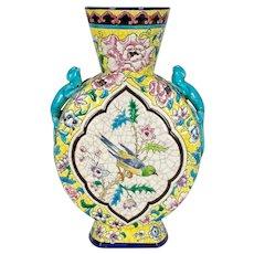 19th Century French Longwy Ceramic Vase