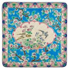 19th Century French Longwy Ceramic Trivet