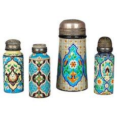 French Longwy Ceramic Shakers - Set of Four