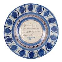 19th Century Delft Ceramic Bowl