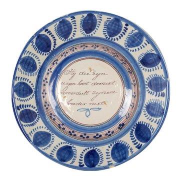 18th Century Delft Ceramic Bowl