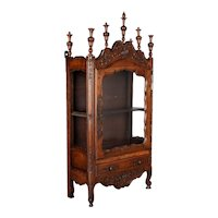 19th Century French Provençal Vitrine or Display Cabinet
