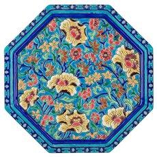 French Art Deco Longwy Cloisonné Enamel Ceramic Trivet