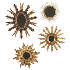 Italian Gilded Sunburst Mirrors Set of Four