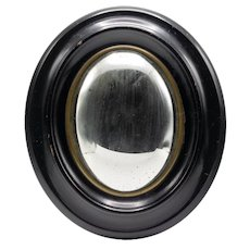 Small 19th Century French Napoleon III Convex Mirror