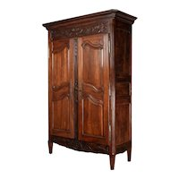 19th Century Louis XVI Style French Armoire or Wardrobe