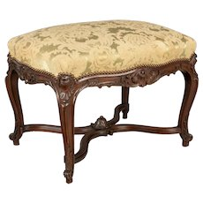 French Louis XV Style Foot Stool or Bench
