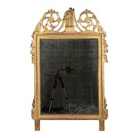 18th Century French Louis XVI Giltwood Bridal Mirror