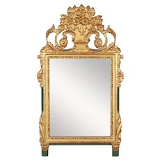 French Louis XV Style Parcel Gilt Mirror
