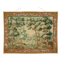 French Mid Century Tapestry Painting by André Turin