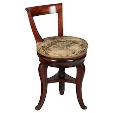19th Century French Restauration Harpist Swivel Stool
